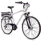 CHRISSON 28 Zoll E-Bike Trekking und City Bike für...