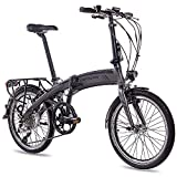 CHRISSON 20 Zoll E-Bike City Klapprad EF1 grau -...