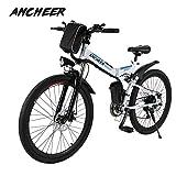 Ancheer Elektrofahrrad Faltbares Mountainbike, 26 Zoll...
