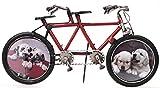 Fahrrad Tandem aus Metall 32 cm rot mit 2 Bilderrahmen...