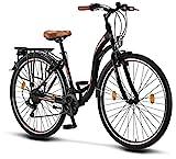 Licorne Bike Stella (Schwarz) 28 Zoll Damenfahrrad,CTB...