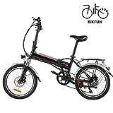 BIKFUN Elektrofahrrad, 20/26 Zoll E-Bike, Lithium-Akku...