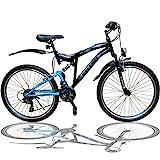 Talson 26 Zoll Mountainbike Fahrrad MIT VOLLFEDERUNG &...