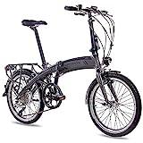 CHRISSON 20 Zoll E-Bike City Klapprad EF1 grau -...
