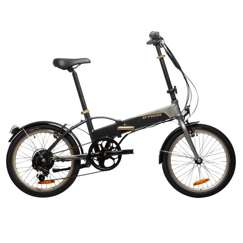 B´TWIN E-Bike 20 Faltrad Klapprad Hoptown 500 Samsung 144Wh Heckmotor, Größe: Einheitsgröße