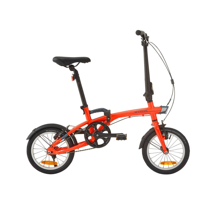 B´TWIN Faltrad Tilt 500 XS orange, Größe: Einheitsgröße