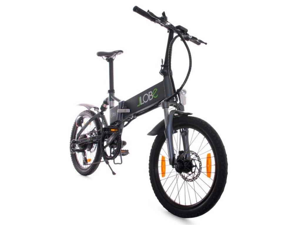 Ein schwarzes E-Bike von Llobe.