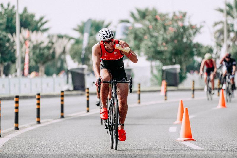Energy Shot beim Radfahren
